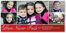 love never fails valentines card 4x8 photo