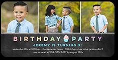 cupcake party birthday invitation 4x8 photo