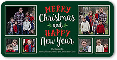 styled sentiments christmas card 4x8 photo
