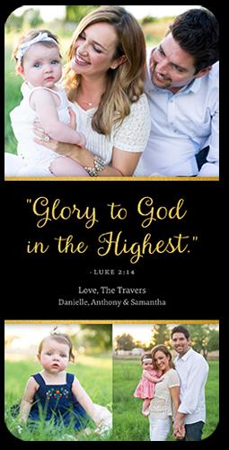 Glorious God Religious Christmas Card
