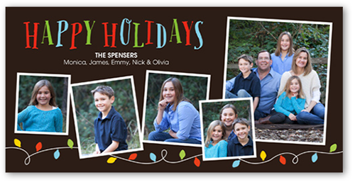 Colorful Lights Holiday Card