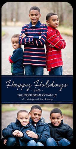 Basic Banner Holiday Card