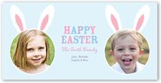 bunny ears easter card 4x8 photo