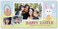 happy bunny easter card 4x8 photo