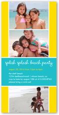 splish splash summer photo card 4x8 photo