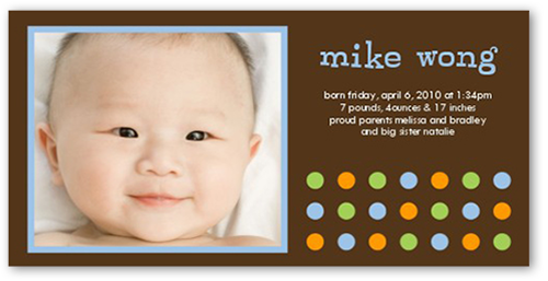 Tempo Dots Chocolate Birth Announcement