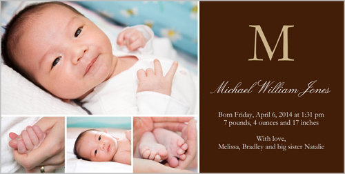 Cards Birth Announcements The largest selection of Art Supplies – Birth Announcement Boy