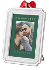 always merry picture frame ornament