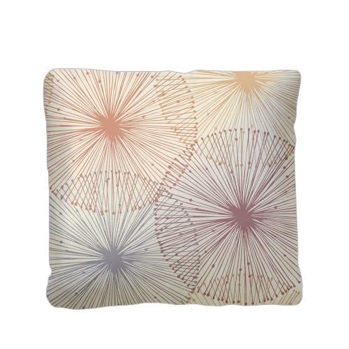 Dandelions Pillow, Plush, Pillow (Plush), 16 x 16, Single-sided, White