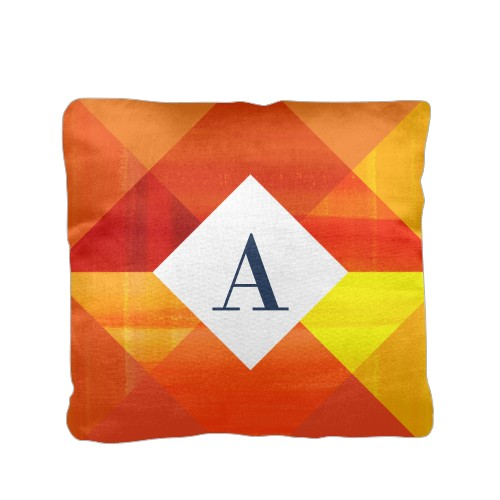 Color Blast Monogram Pillow Orange