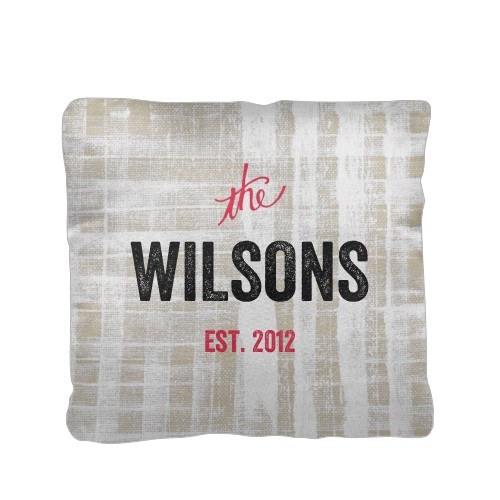 Rustic Family Name Pillow