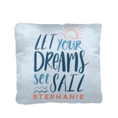 nautical dreams set sail pillow