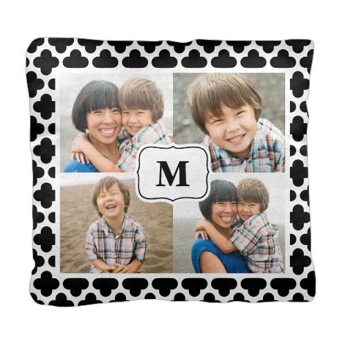 Trellis Monogram Pillow