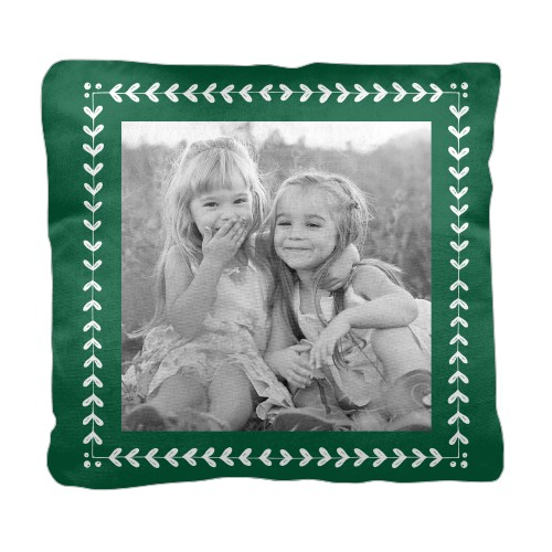 Mistletoe Frame Pillow Green