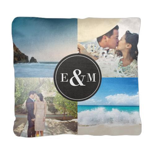 Bold Circle Monogram Pillow