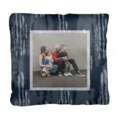 indigo wash shibori pillow
