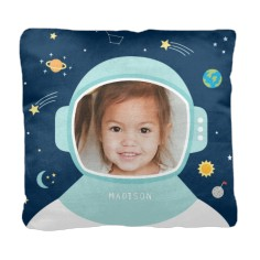 moon and stars astronaut pillow