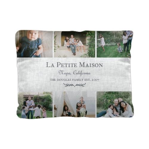 Parisian Elegance Pillow, Cotton Weave, Pillow (Black), 12 x 16, Single-sided, White