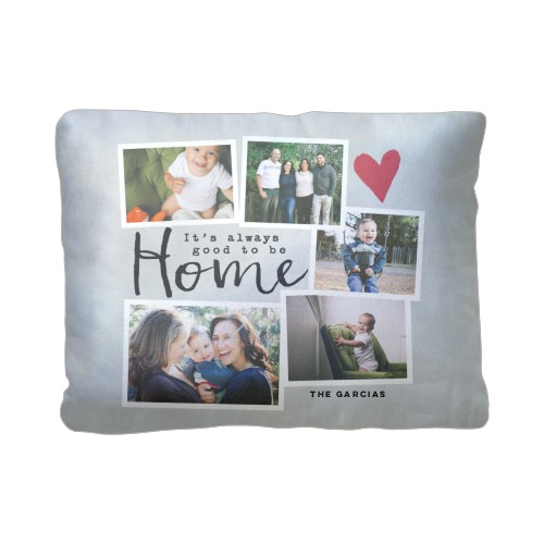 Good To Be Home Pillow, Sherpa, Pillow (Sherpa), 12 x 16, Single-sided, Grey