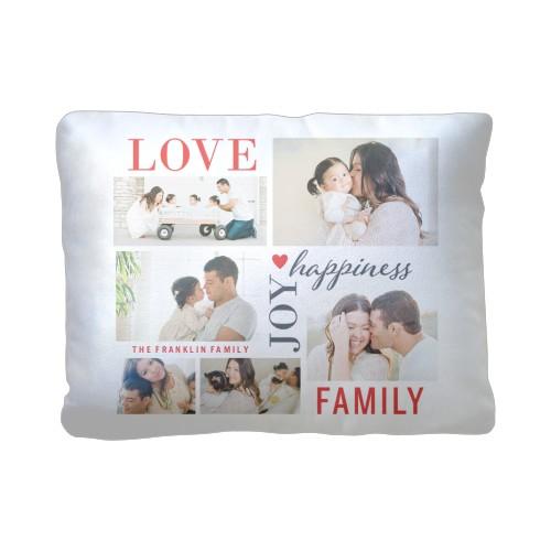 Love Joy Family Pillow, Plush, Pillow (Plush), 12 x 16, Single-sided, White