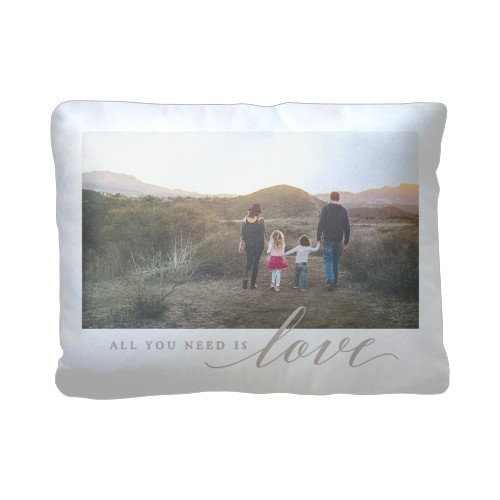 All You Need is Love Pillow, Plush, Pillow (Plush), 12 x 16, Single-sided, White