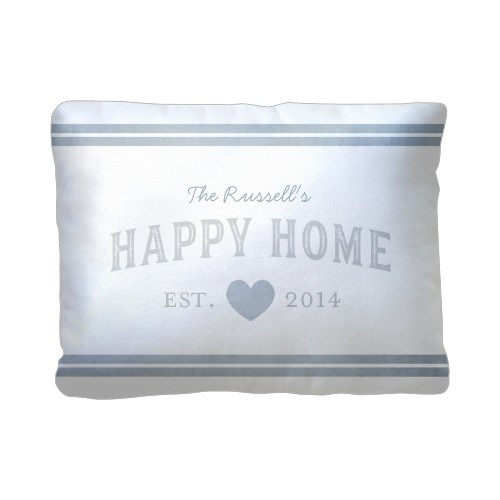 Happy Home Pillow, Sherpa, Pillow (Sherpa), 12 x 16, Single-sided, Grey