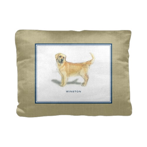 Best In Show Border Monogram Pillow, Cotton Weave, Pillow (Ivory), 12 x 16, Single-sided, ...