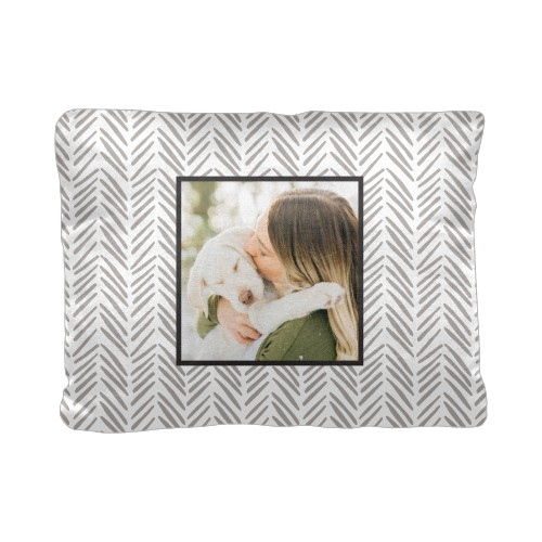 Playful Patterns Modern Chevron Pillow, Cotton Weave, Pillow (Ivory), 12 x 16, Single-sided, ...