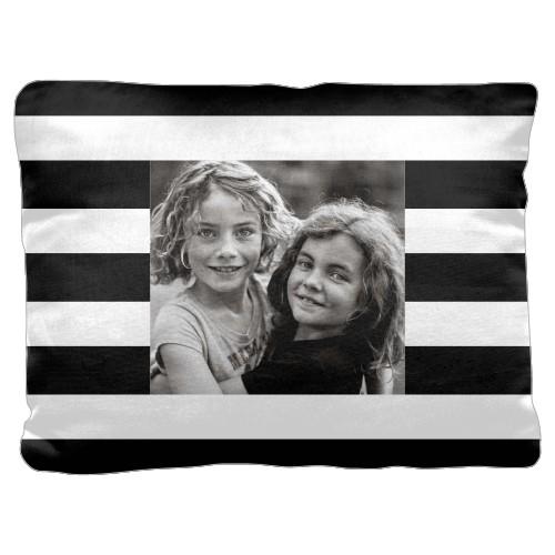 Bold Stripes Pillow, Cotton Weave, Pillow (Black), 18 x 24, Single-sided, Black
