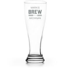 brew banner pilsner glass