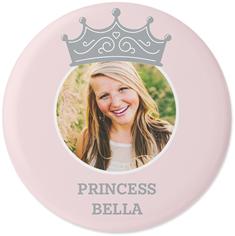 princess crown monogram pins