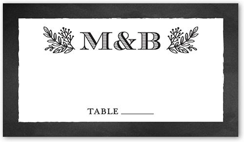 Captivated Chalk Wedding Place Card