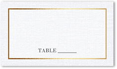 simple solid frame wedding place card