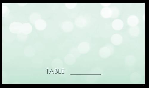 Bokeh Blur Wedding Place Card