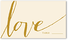custom color palette colors of this design can be customized penned promises wedding place card - Custom Place Cards