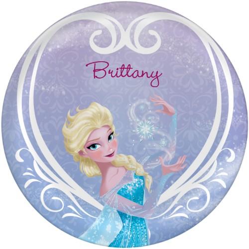 Disney Frozen Elsa Plate, 10x10 Plate, Purple