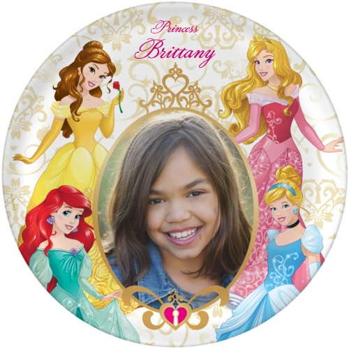 Disney Princesses Plate, 10x10 Plate, Yellow