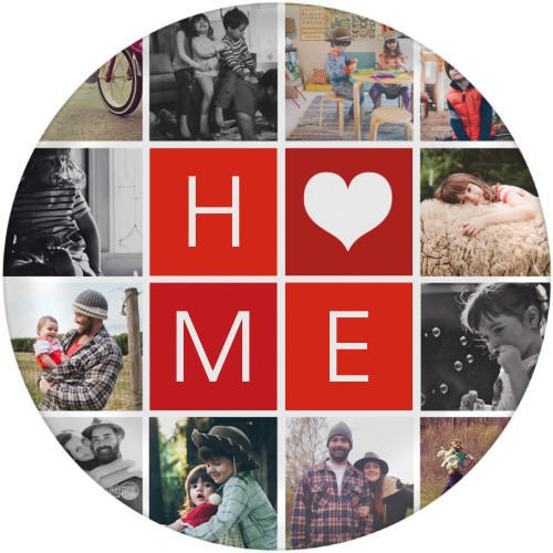 Home Collage Plate, 10x10 Plate, DynamicColor