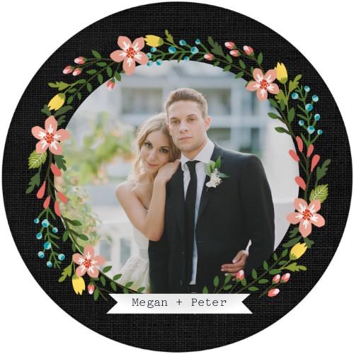 Chalkboard Floral Frame Plate