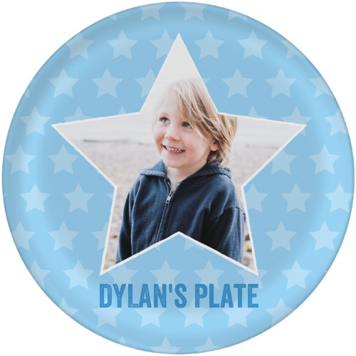 All Star Plate, 10x10 Plate, Blue