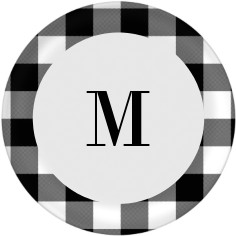 gallery monogram plate
