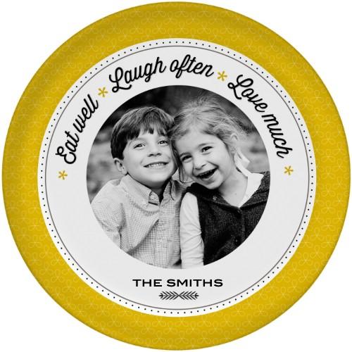 Eat Laugh Love Plate