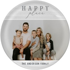 contemporary happy place collage plate