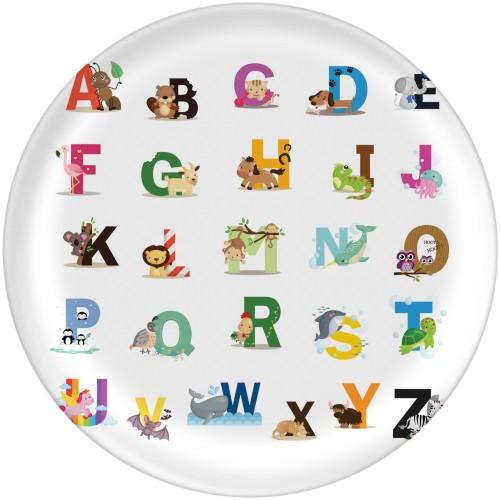 Animal Alphabet Plate, 10x10 Plate, Multicolor