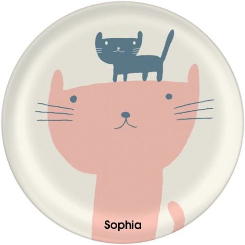 Cat and Kitten Plate