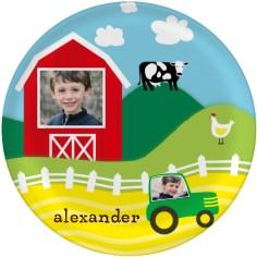 farm fun plate