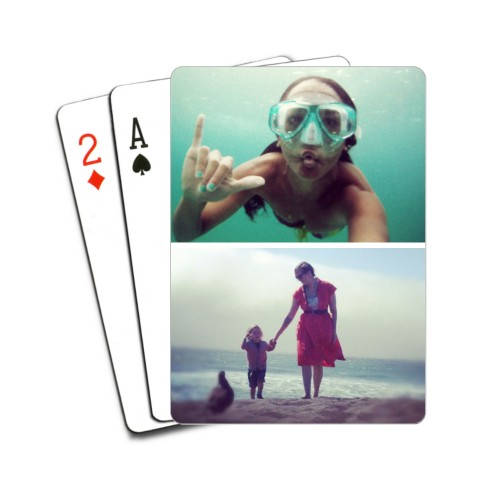 Gallery of Two Playing Cards, Multicolor