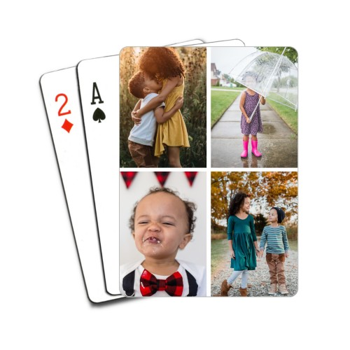 Gallery of Four Playing Cards, Multicolor