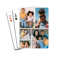 gallery of five playing cards