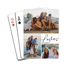 love heart grid playing cards